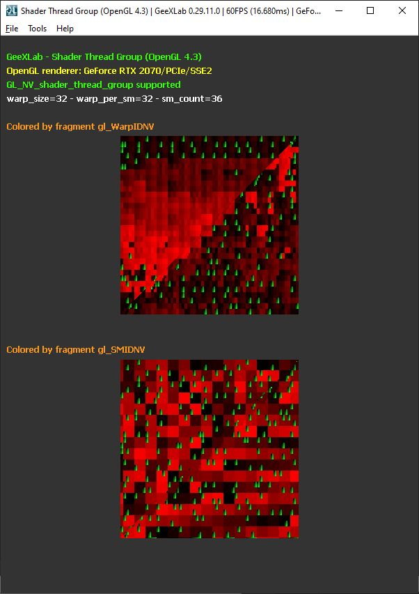 GeeXLab OpenGL 4 demopack - shader thread group