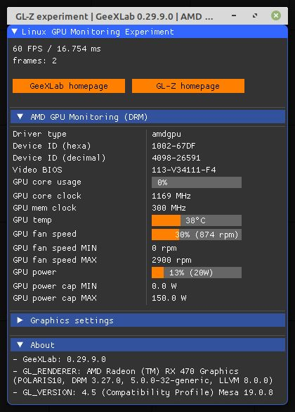 GeeXLab / GL-Z - AMD GPU monitoring on Linux