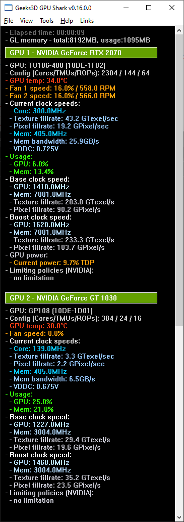 GPU Shark 0.16.0 - GeForce RTX 2070