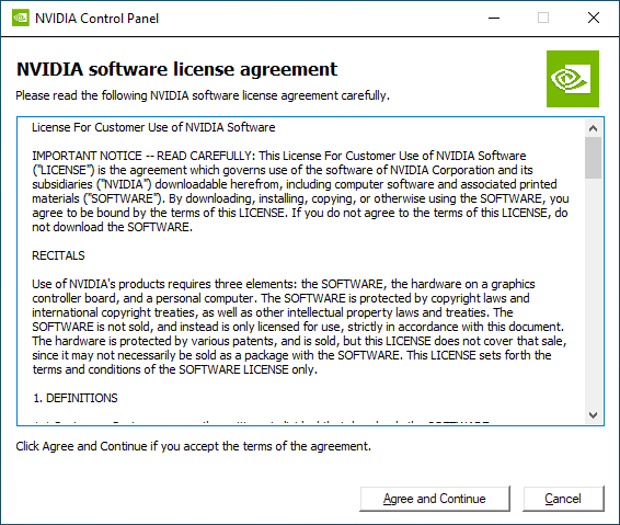 NVIDIA GeForce 441.87 + license agreement