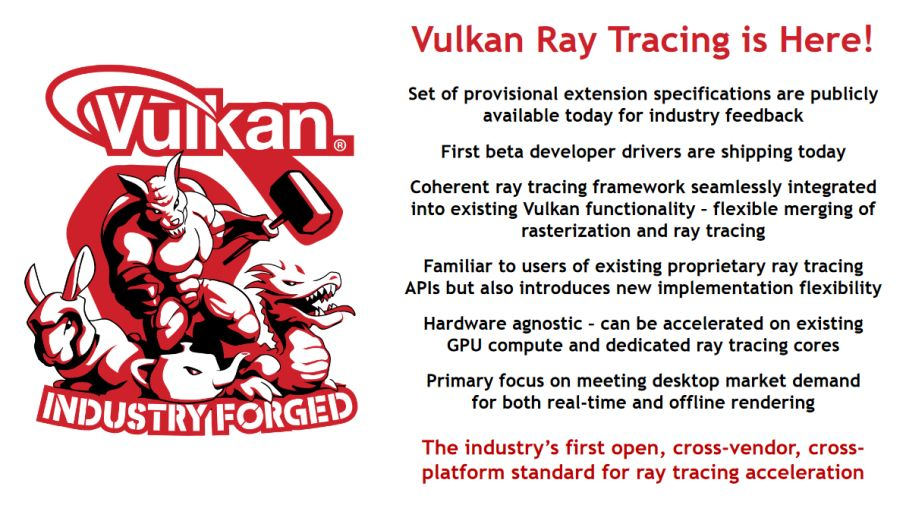 Vulkan Ray Tracing launch paper