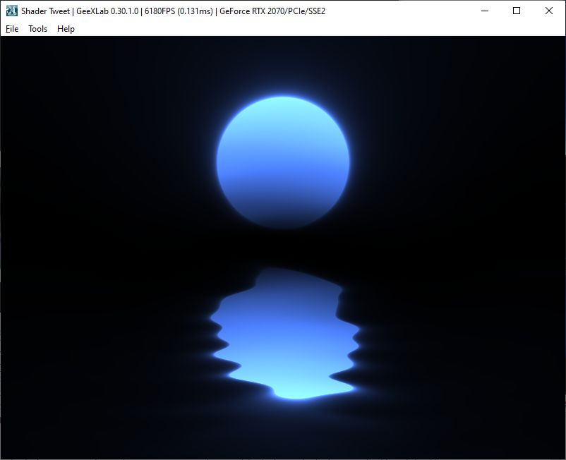 GeeXLab demo - Shader Tweet