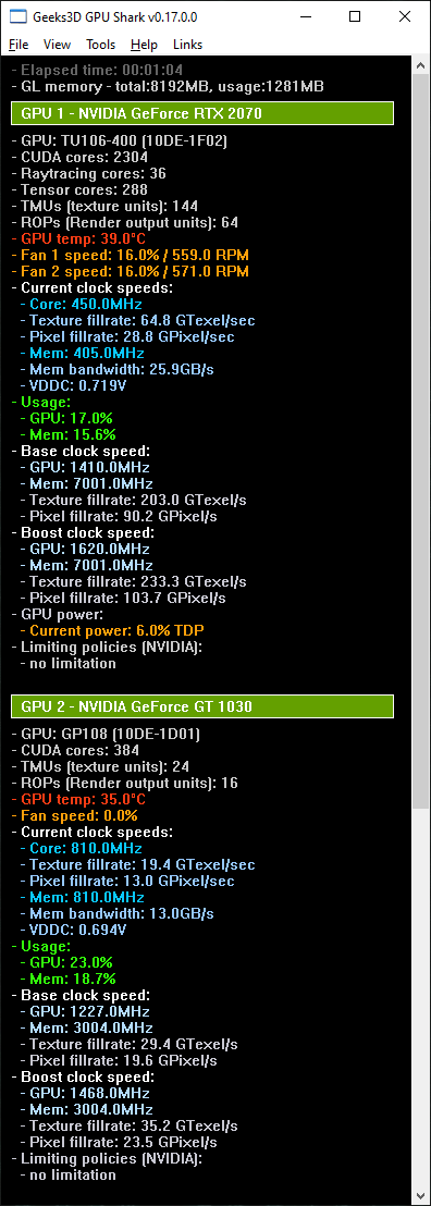 GPU Shark 0.17.0 - GeForce RTX 2070