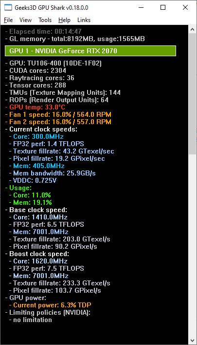 GPU Shark + GeForce RTX 2070