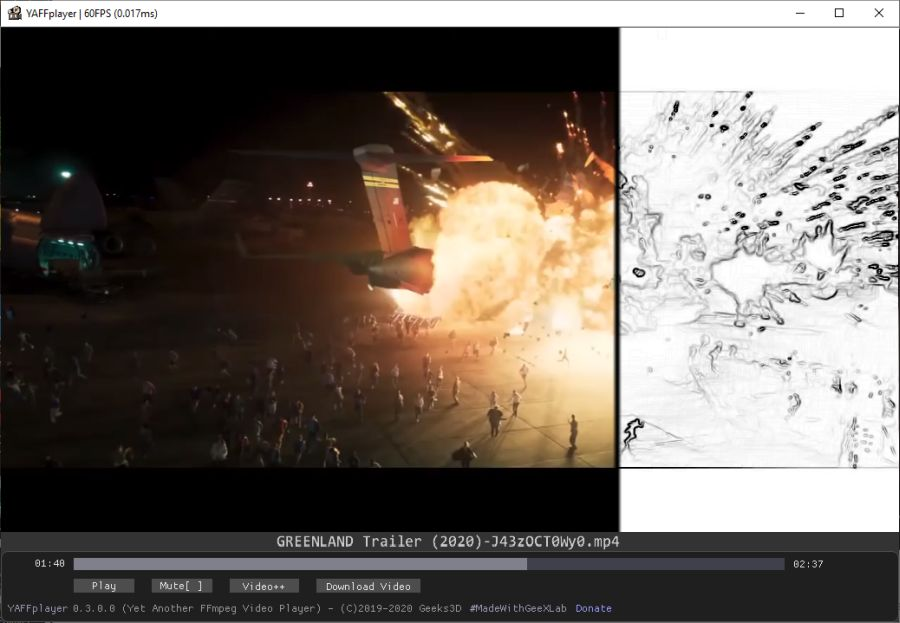YAFFplayer - Video player for Windows, Linux and Raspberry Pi