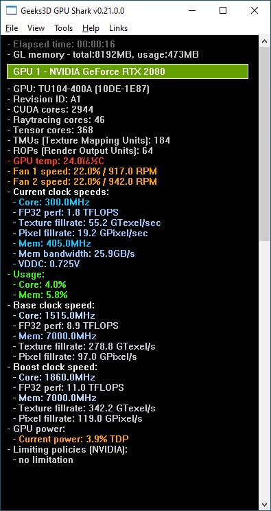 GPU Shark + GeFopce RTX 2080