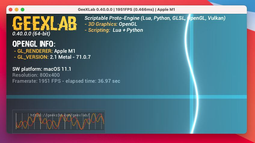 GeeXLab on Apple Mac mini M1 - arm64