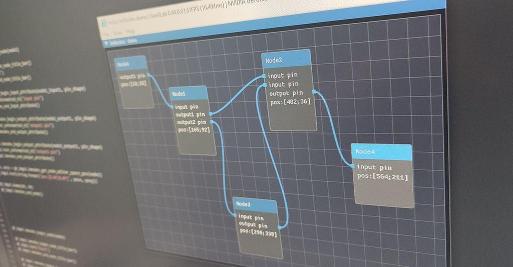GeeXLab 0.44 - ImNodes, node editor for Dear ImGui