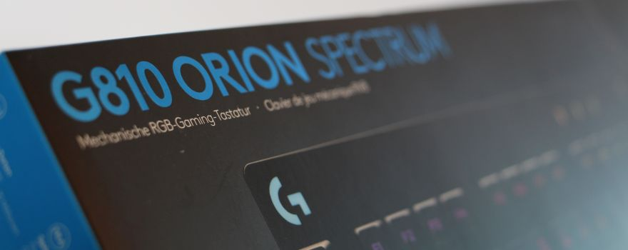 Quick Review) Logitech G810 Orion Spectrum: Code and Game